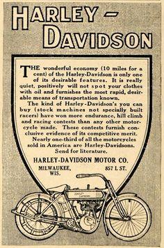 Vintage Harley-Davidson Poster - (SILODROME)