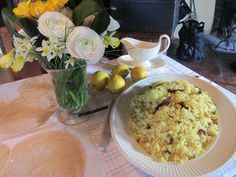 Flowers, home made Chapati & Lemon Rice * India at Your Home *