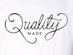 Typography Spotlight: typeandlettering:   Quality Made by Ramzy Masri