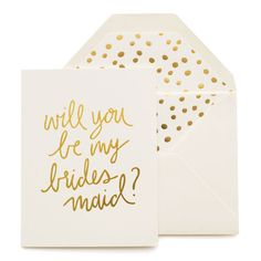 Sugar Paper Playful Bridesmaid Card available online with The Paper Parlour.