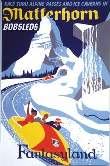 Vintage Disneyland poster - we own this one, just in case we ever buy a mountain cabin!