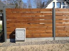 Privacy Fence Landscaping, Patio Fence, Front Yard Fence, Pool Landscaping, Balcony Design, Patio Design, Exterior Design, House Design, Modern Fence Design
