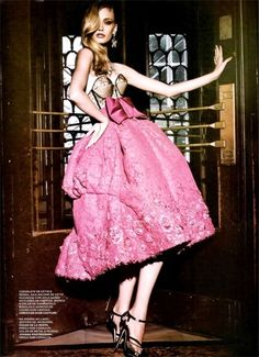 christian dior dress with pink skirt