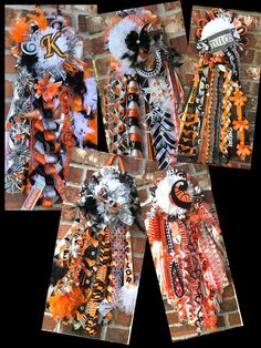 Mega homecoming mum single homecoming mums. Deluxe homecoming   Etsy Ribbon Braids, Single Mum, Homecoming Mums, Mesh Ribbon, Custom Ribbon, Small Boxes, Letters And Numbers, Colorful Pictures, Unique Colors
