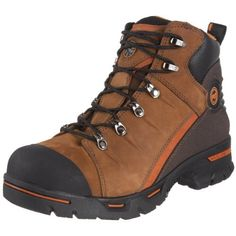 """Timberland PRO Men's 89630 Endurance PR Hiker Work Boot Timberland. $112.65. Anti-Fatigue Technology with conical midsole geometry featuring polyurethene material. Slip, oil, heat and abrasion resistant outsole. Flexible Steel-Flex puncture resistant plate. Rubber sole. Antimicrobial Cambrelle fabric lining. Suede and leather. Constructed on Titan last for superior fit. Shaft measures approximately Ankle"""" from arch"""