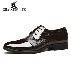 2016 British Style Summer Hollow Out Men Oxford Wedding Shoes Lace Up Leather Business Pointed Toe Men Dress Shoes Black Brown