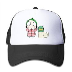 Toddler Sarah & Duck Adjustable Snapback Trucker Hat Black One Size