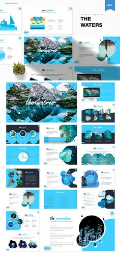 The Waters Keynote Design - Total Slides, on 5 Premade colors - 30 Slides for each Template Powerpoint Design Templates, Booklet Design, Keynote Template, Flyer Template, Presentation Layout, Presentation Slides, Presentation Templates, Brochure Design Layouts, Keynote Design