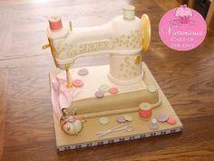 vintage sewing cake
