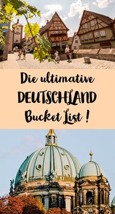 The Germany Bucket List! Sophia& world - The Germany Bucket List! Sophia& world - Europe Destinations, Bucket List Destinations, Holiday Destinations, Cool Places To Visit, Places To Travel, Koh Lanta Thailand, Countries To Visit, Destination Voyage, Travel List