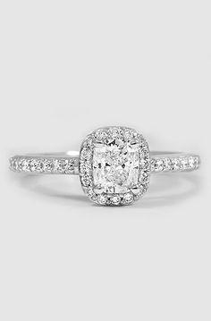 Platinum Fancy Diamond Halo Ring (1/3 ct. tw.)