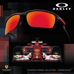Scuderia Ferrari Collection by Oakley - speed and power meets optical excellence.