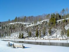 Cliffs above the Menominee River