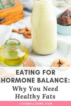 Eating for Hormone Balance: Why You Need Healthy Fats - PCOS Diet & TreatmentNot sure what should be in your PCOS diet? Struggling to lose weight with PCOS? Learn exactly why you need fats in your hormone balance diet and get the list of foods that Foods To Balance Hormones, Balance Hormones Naturally, Hormone Diet, Hormone Imbalance, Growth Hormone, Pcos Diet Plan, Hormonal Acne, Hormone Balancing, Balanced Diet
