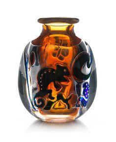 """@@ Edvin Öhrström (1906-1994), Orrefors, """"Ariel"""" Glass Vase."""