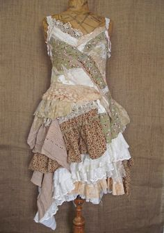 inspiration for reusing clothing for a little girl's dress