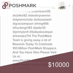 Warning- beware of spammer Got this comments for the past few days. Thirst are spammers looking to hack your account by collecting your information and email address. Be aware and pleat report them to poshmark. spam allert Other