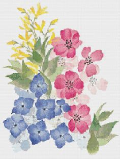 Cross Stitch Pattern, Cross Stitch Patterns, Cross Stitch, Counted Cross Stitch, Cross Stitch Chart, Xstitchpatterns, Cross Stitch Flowers