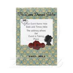 The Queens Diamond Jubilee 2012 - Party/Event Invitations