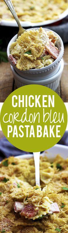 Chicken Cordon Bleu Pasta Bake   Creme de la Crumb