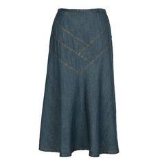 Irina - Maxi Denim Skirt – newCreation Apparel Modest Long Skirts, Jean Skirt, Every Woman, Blue Denim, Stylish, Denim Skirts, Cotton, Collection, Women