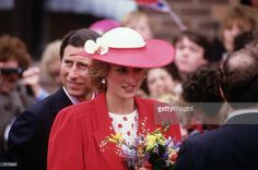 Diana Princess of Wales and Prince Charles during a visit to Newcastle on May 21, 1985.