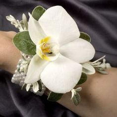 corsage for Moms maybe..has pretty bracelet that looks like pearls @Ashley Evans