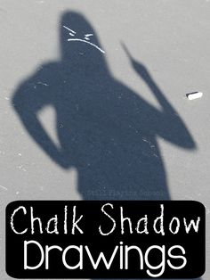 Create chalk shadow art drawings with kids to teach emotions, spatial relationships, social cues, and more!