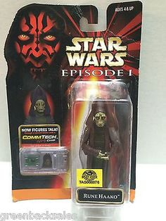 Star Wars Episode I Figure - Rune Haako This item is NOT in Mint Condition and is in no way being described as Mint or even Near Mint. Our toys have not always lead the perfect life, nor have they bee