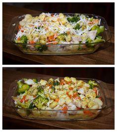 Experimente aus meiner Küche: Gnocchi-Hähnchen-Auflauf mit Brokkoli und Möhren