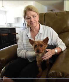 Jan Stiles has puncture wounds and bruises all over. Her entire body is sore. As she was walking Charlie, two pit bulls charged her. She held Charlie over her head, but the 50-pound, female pit bull mix jumped and bit Stiles under her armpit, the force knocking her to the ground. Stiles started screaming for help, scaring the other dog away, but the pit bull mix continued its attack on Charlie and bit Stiles in the process as she tried to shield Charlie under her legs. (July 2016. Ceres, CA)