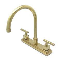 Elements Of Design Claremont Polished Brass 2-Handle High-Arc Sink/Cou
