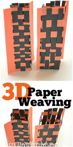 Add a fun twist to traditional paper weaving with this fun 3-D Paper Weaving art project for kids.