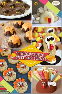Thanksgiving sweets and treats for kids!  #thanksgivingforkids #thanksgivingkidfriendly #thanksgivingtreatsforkids