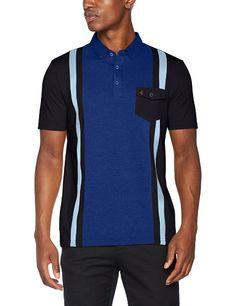 Mens Polo GABICCI Touch Long Sleeve Polo ShirtNavy
