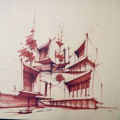 Architectural Sketch by Esmaiel Movaghar