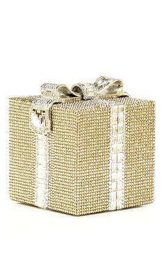 A present you don't even have to wrap! Judith Leiber Gift Wrap Minaudiére at Moda Operandi