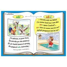 "Plansa Ortograma ""n-ati"" / cuvintele ""nu"" si ""ati"" Romanian Language, Class Decoration, Coloring Pages, Nostalgia, Classroom, Baseball Cards, Learning, Math, School"