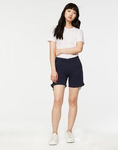 Karin Shorts Dark Cobalt aus Biobaumwolle #veganemode #fairfashion #veganfashion Bermuda Shorts, Short Dresses, Jeans, Fashion, Vegan Fashion, Womens Fashion, Summer, Cotton, Nice Asses