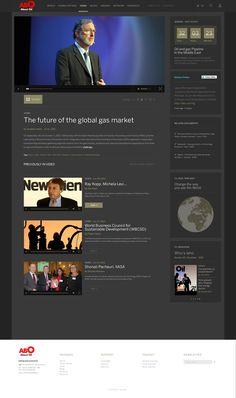Abo Oil - Web Magazine / Concept Redesign on Web Design Served Served