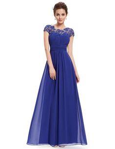 HE09993SB06, Sapphire Blue, 6UK, Ever Pretty Long Evening Dresses 09993