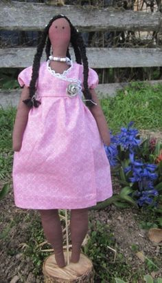 Tilda: poupée style africaine : Rocellie
