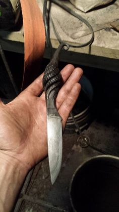 """1"""" cable damascus knife!"""