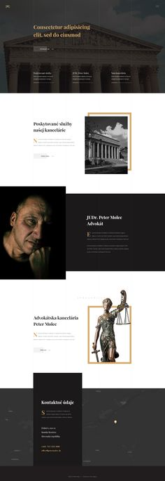 Concpet 2 Graphic design website with three colors: Black, White & Yellow