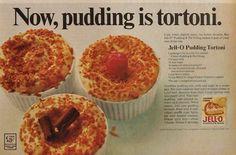 Original vintage magazine ad for Jello Pudding featuring a recipe for ...