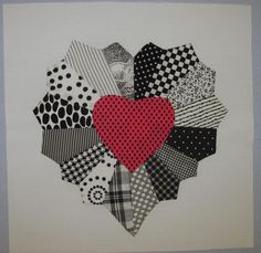 "This free quilt pattern is called the ""Dresden Heart"".  Just lovely."