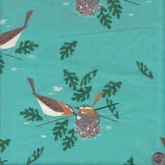Birch Fabrics Organic Charley Harper Red Eye by quiltsandwich