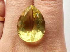 21X16mm Pear Lemon Loose Cabochon Lot Faceted by gemsforjewels