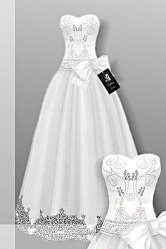 Sims 4 CC's - The Best: Wedding Dress by CrownFashion