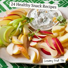 24 Easy and Healthy Snack Recipes Ideas like our Creamy Fruit Dip